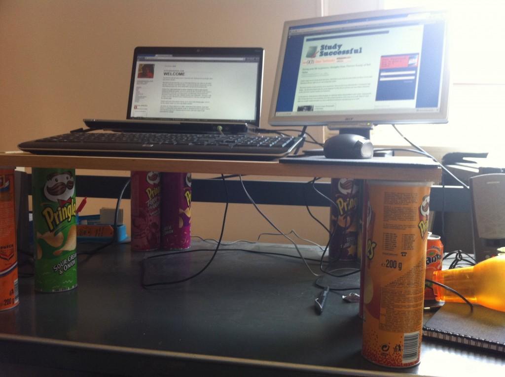 chip standing desk DIY