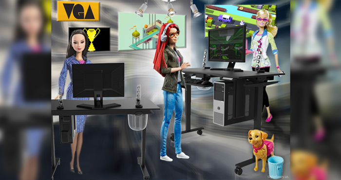 Evodesk game developer barbie