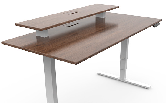 highrise desk platform storage